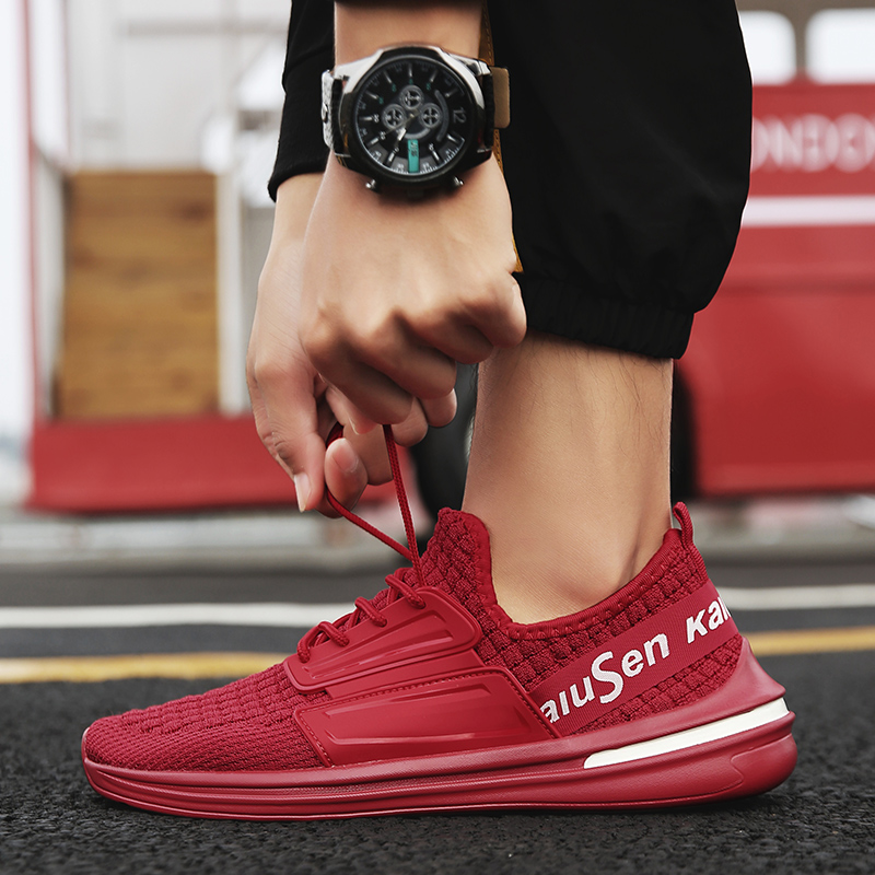 La Coréenne Pour Chaussures Black red gray Mesh Loisirs Respirant Blanc 3 Tendance Sauvages Hommes Version Petit Marée Et De rqfwR8WgqA
