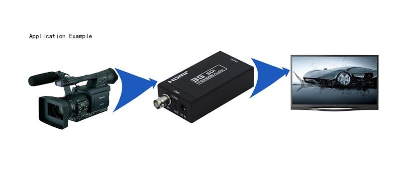 1 Piece 1080P 3G SDI l to hdmi Converter Support SD / HD-SDI / 3G-SDI Signals shown on HDMI displays  sdi2hdmi sdi to hdmi