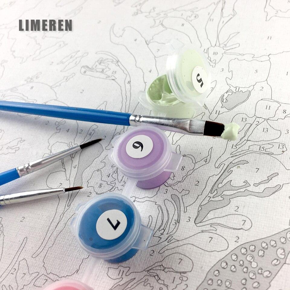 Primavera Willow cuadro del río DIY colorear por los números Kits ...