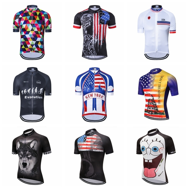 086b8e9b368 2019 USA cycling jersey Men s Bike jerseys Short sleeve summer Pro Road MTB  Maillot Ciclismo Bicycle Tops T-shirts Breathable