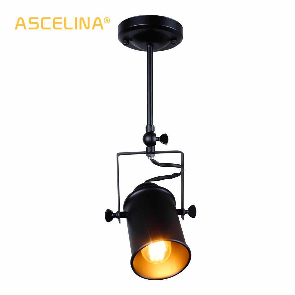 Промышленный подвесной светильник винтажный подвесной светильник в стиле лофт прожекторы Американский кулон лампа светодиодный светильник Ресторан украшения для кафе бара