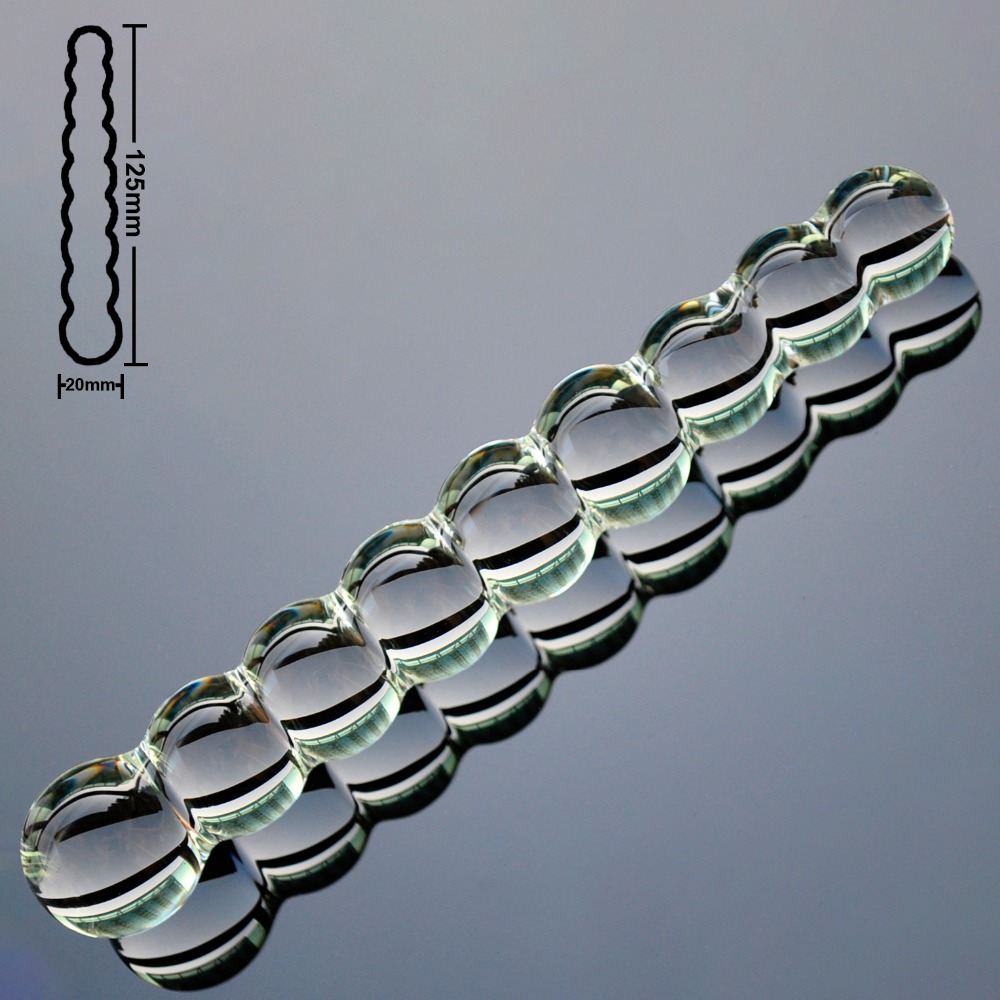 9 Beads Balls Pyrex Glass Anal Dildo Butt Plug Fake Penis Crystal Artificial Dick Adult Sex Toy For Gay Women Men Masturbation