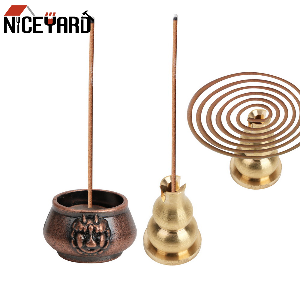 NICEYARD Home Decors Stick Holder Gadgets Copper Incense Burners Classical Pattern