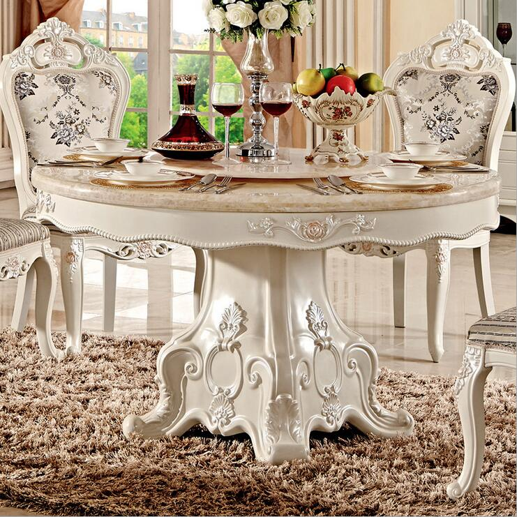 Modern Style Italian Dining Table, 100% Solid Wood Italy Style Luxury Dining Table Set Pfy10021
