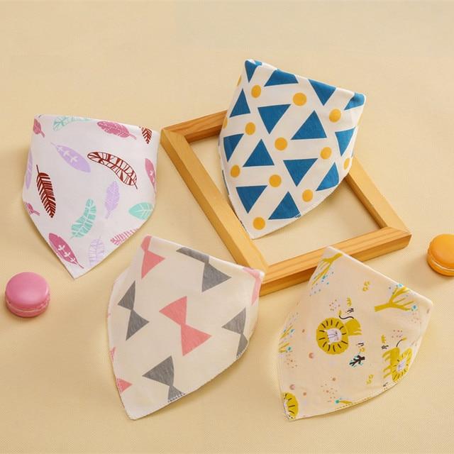 Printing Geometry Stars Baby Bids Baby Cartoon Towel Scarf Feeding Bibs Burp Cloths Bandana Baby Infant Newborn Girls Boys Bibs