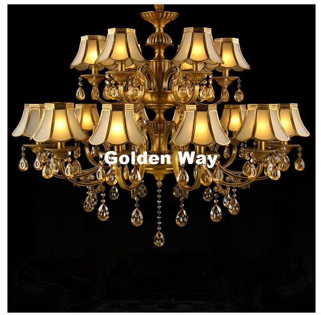 AuBergewohnlich Moderne 18L Design D110cm H95cm Bronze Finish Kristall Kronleuchter Lampe  Bronze E14 LED AC Licht Fixture