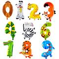 1Pcs Number balloon Animal Foil Balloons Wedding Inflatable Happy Birthday Decoration Air Balloons Children's Gifts Party Ballon