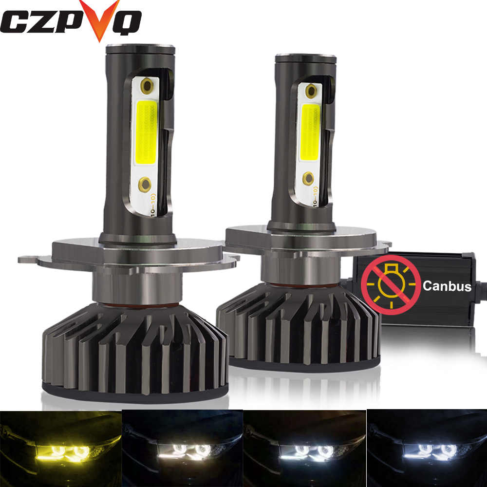 CZPVQ Mini Size Canbus H4 H7 H11 H1 LED 9005 9006 880 881 H3 HB3 HB4 H27 Car Headlight 3000K 4300K 6500K 8000K Auto Fog Light