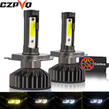 CZPVQ Mini Size Canbus H4 H7 H11 H1 LED 9005 9006 880 881 H3 HB3 HB4 H27 Car Headlight 3000K 4300K 6500K 8000K Auto Fog Light(China)