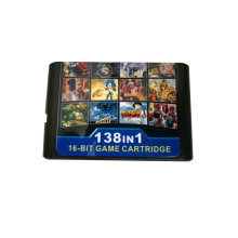 New version For Sega Mega Drive 138 in 1 Game cartridge shell gaming memory card adapter For Sega Genesis цена 2017