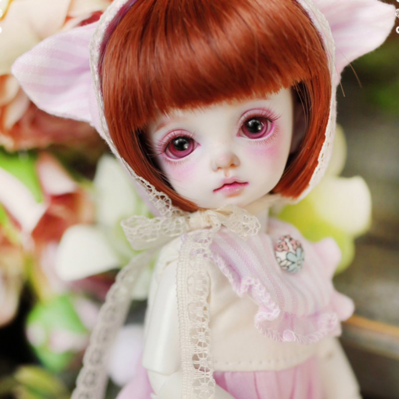 1/8 BJD Doll BJD/SD Cute Roselied Basic Miu Doll With Free Eyes For Baby Girl Gift Free Shipping 1 8 bjd doll bjd sd fashion cute miu with eyes for baby girl gift full set doll clothes shoes wig like picture