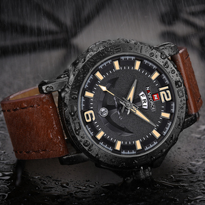 Image 1 - NAVIFORCE erkekler moda İş kuvars saatı yaratıcı spor saatler erkekler lüks marka İzle saat erkek Relogio Masculino