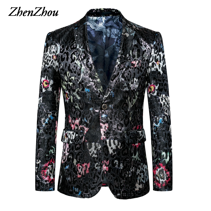 Men Blazer Masculino Slim Fit Blazer Mens Suit 2019 Fashion Plus Size 5XL 6XL Costume Homme Mens Blazer Jacket Male High Quality