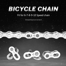 Steel 6 7 8 9 10 Speed Bicycle Chain Connector Mountain Road MTB Bike Chain Lock set Quick Master Link Joint Repair Tool parts vg sports 6 7 8 speed bike chain mtb mountain road folding bike bicicleta parts steel solid chain bicycle replacement 116 link