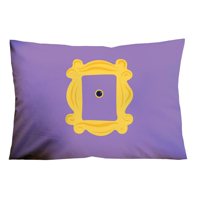 Funny Friends Tv Show Door Frame Pillow Case Yellow Monicas