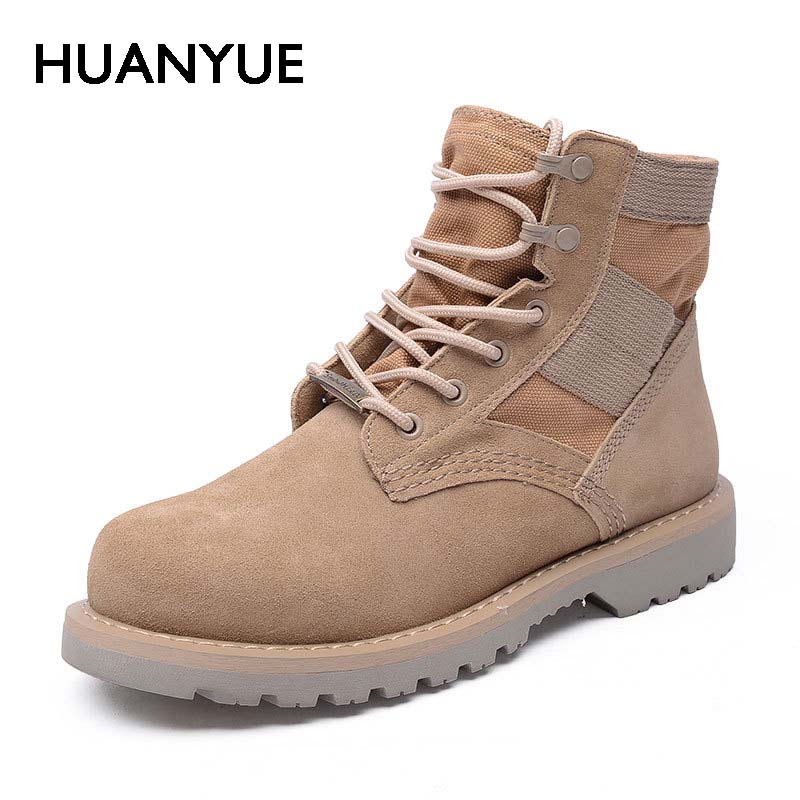 2017 New Spring/Autumn British High-Top Men's Shoes High Quality Winter Men Boots Suede Retro Besert Boots Martin Boots For Men