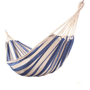 Image 2 - T Canvas Dorm Hanging Chair Navy Blue and White Camping Hammock Outdoor Two person Rock Swing Chair Dropshipping Bed