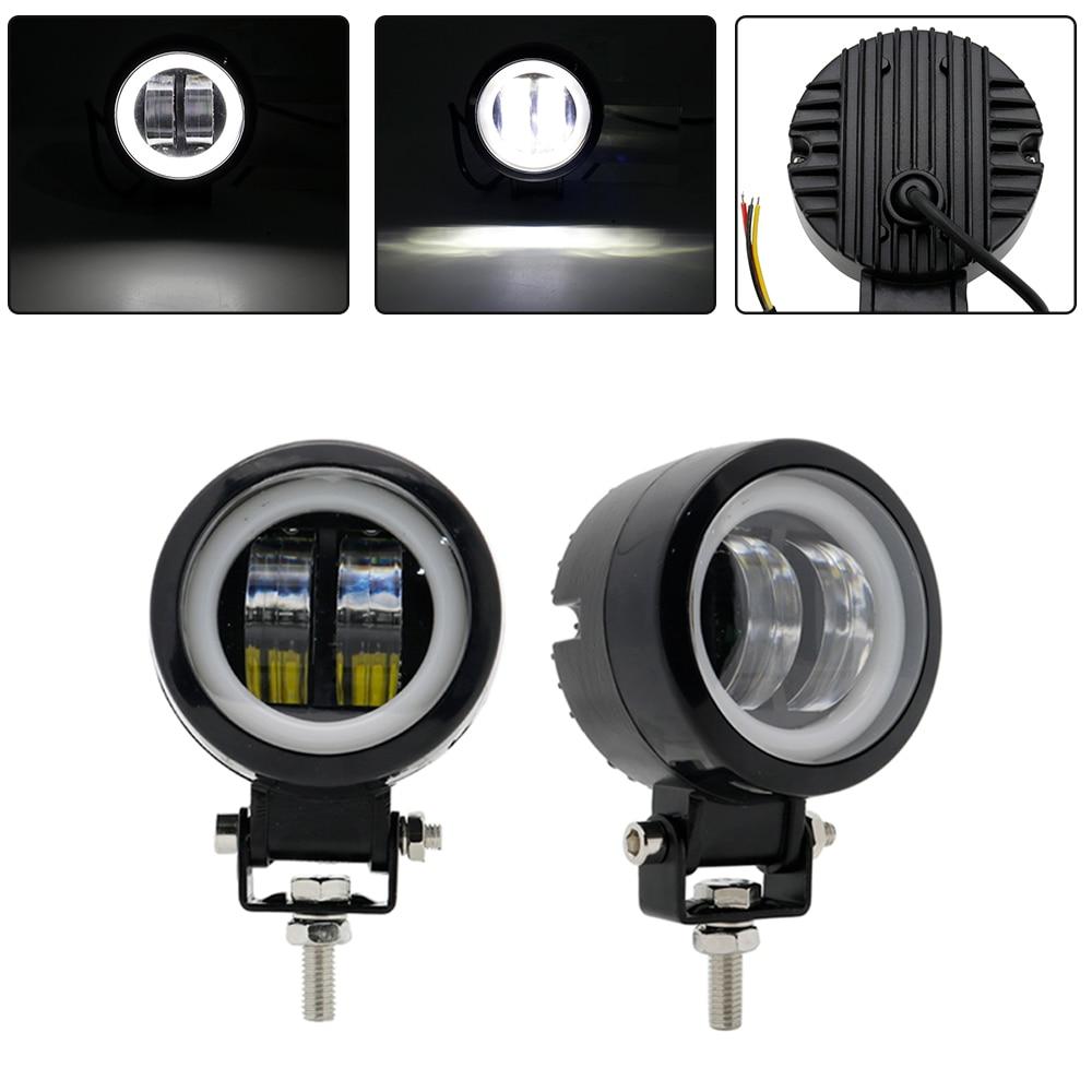 Waterproof Round LED Angel Eyes Light Bar