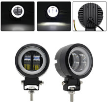 2PCS / 1PCS Tahan Air Bulat LED Angel Eyes Light Bar Lampu Offroad Sepeda Motor Mobil Perahu Lampu Kerja Led cahaya(China)