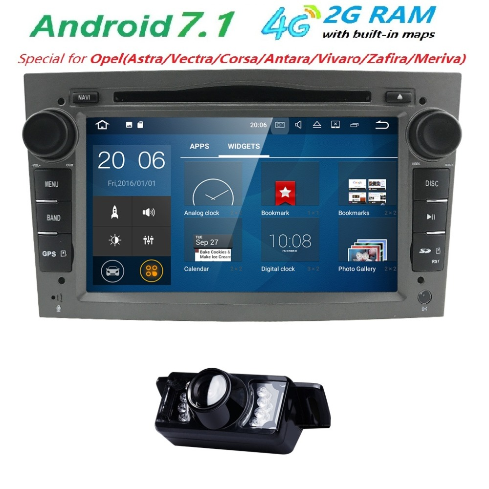 Android 7 1 Autoradio 2 Din font b Car b font DVD GPS Navigation for Opel