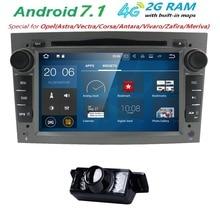 Android 7,1 Авторадио 2 Din автомобильный DVD gps навигации для Opel Astra H G J Antara vectra c b Vivaro astra H corsa c d zafira b Wi-Fi