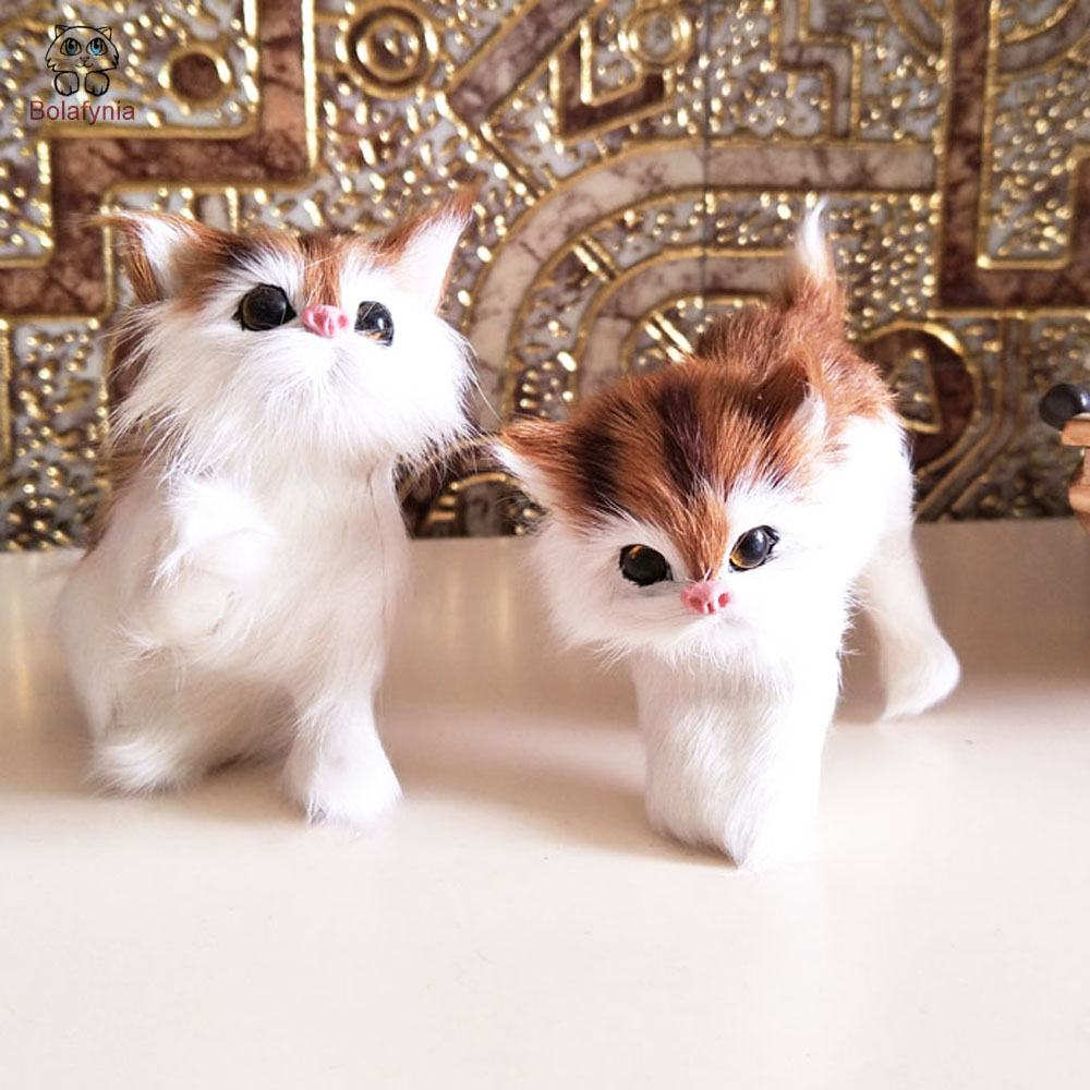BOLAFYNIA four kind cats home decoration Toy simulation animal toy adornment for girl gift