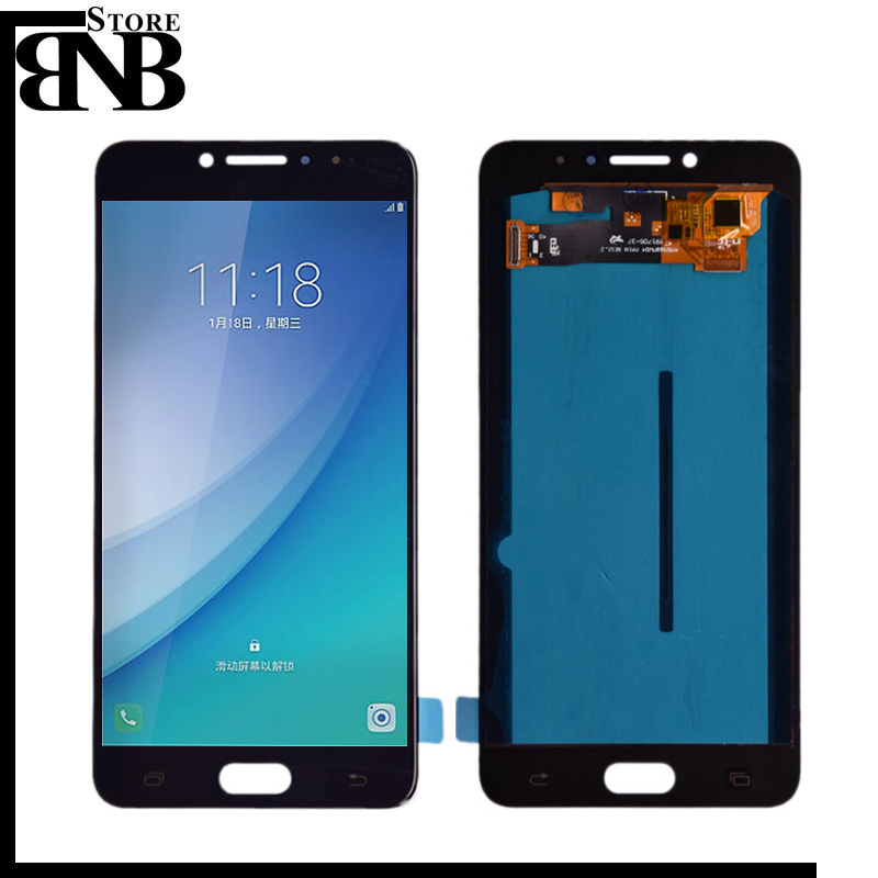 Original Super Amoled lcd For Samsung Galaxy C7 pro C7010 LCD Display Touch Screen Digitizer Assembly free shippingOriginal Super Amoled lcd For Samsung Galaxy C7 pro C7010 LCD Display Touch Screen Digitizer Assembly free shipping