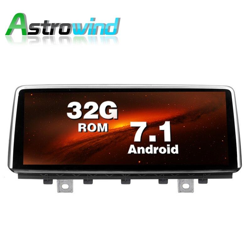 10.25 pouce 2G RAM 32G ROM Android 7.1 Système Voiture GPS Navigation médias Stéréo Radio Pour BMW X5 F15 X6 2014-2017 avec NBT système