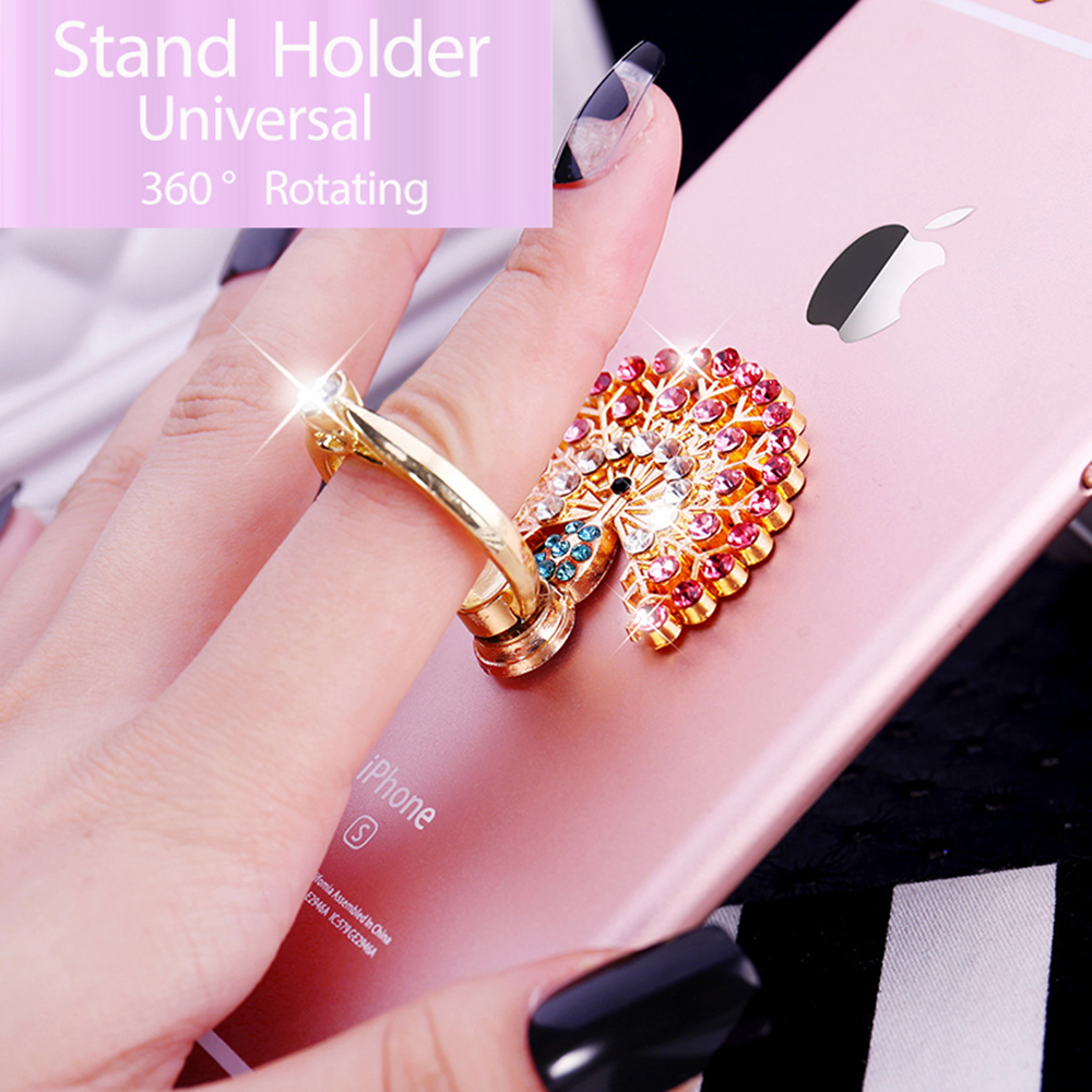 Phone Grip Car Mounts 360 Degree Rotation Finger Ring Stent Compatible iPhone X 8 7 6 Plus Samsung Galaxy and Tablets Cell Phone Ring Holder Stand Comfortable Marble General-purpose 016