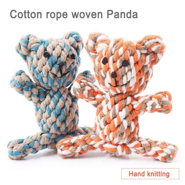 1 pz giocattoli Pet maglieria a Mano di Colore della banda del Cotone corda intr