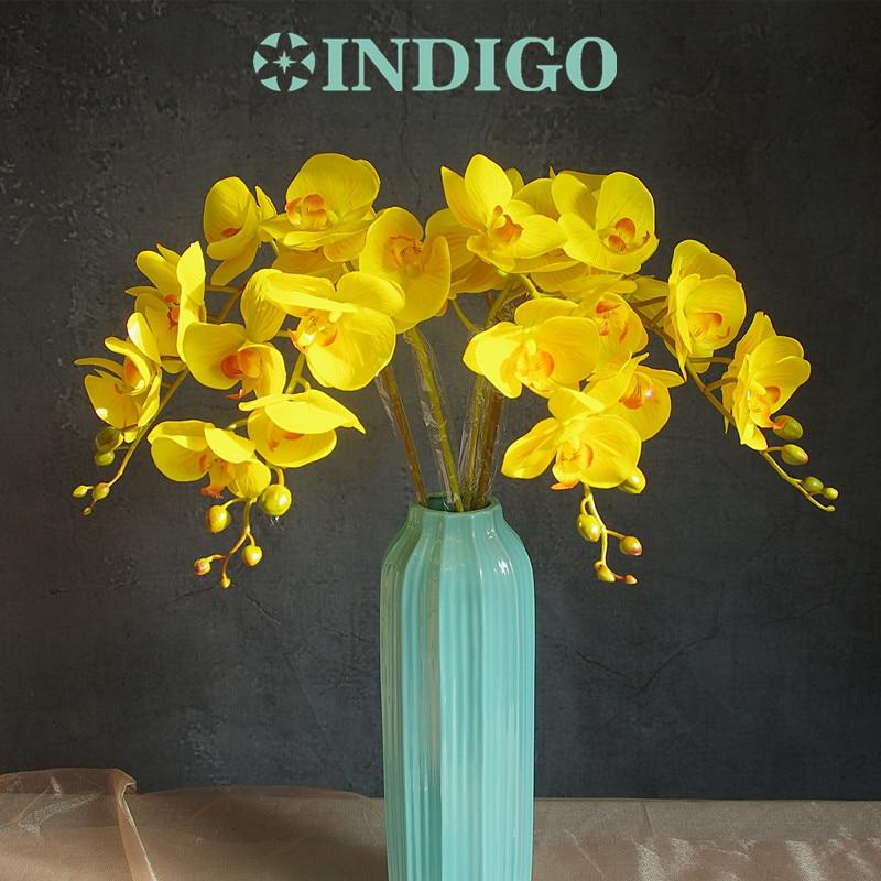 INDIGO- Phalaenopsis Orchidee Zijde Real Touch Flower Kunstbloem - Feestversiering en feestartikelen - Foto 3