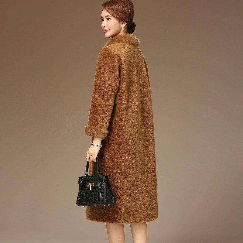 camel Mouton Européenne Fourrure Vêtements Z1041 Femmes Color De Automne Nouveau Vintage Col Laine Hiver Vison Vraie Xiangyu Manteau Veste 8x545qUwO