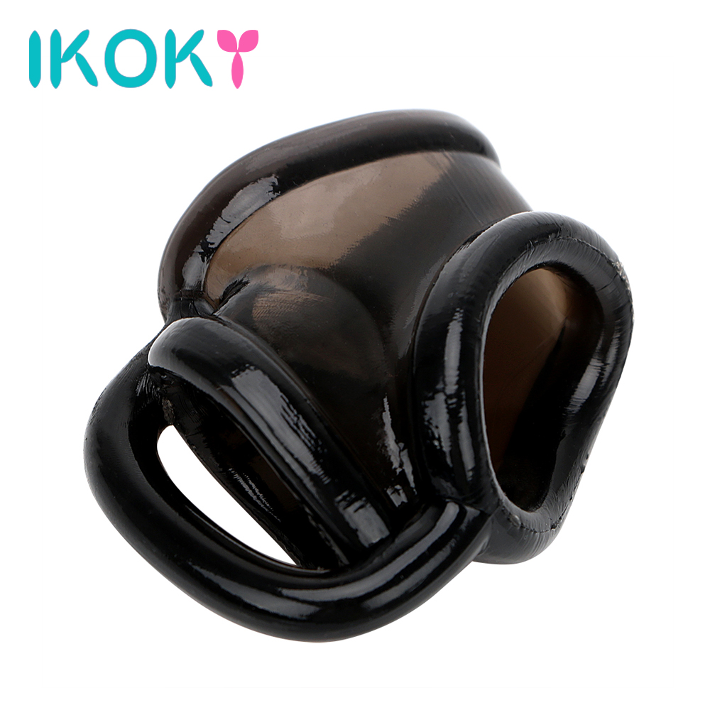 IKOKY Penis Rings Delay Rings For Male Sex Products For Men Cock Rings Silicone Tongue Ring Vibration Clitoris stimulator 8