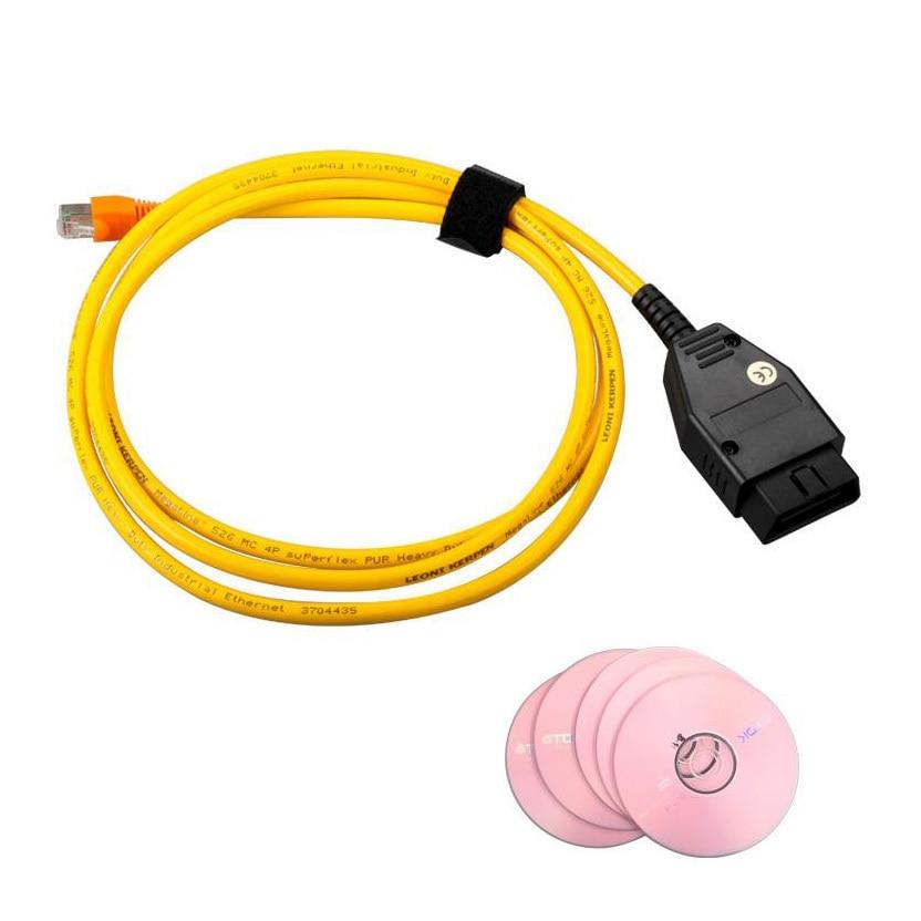 Prix pour Haute Qualité Câble de Données Pour BMW ENET Ethernet à OBD Interface Câble E-SYS ICOM Codage F-Série Câble De Diagnostic SF167