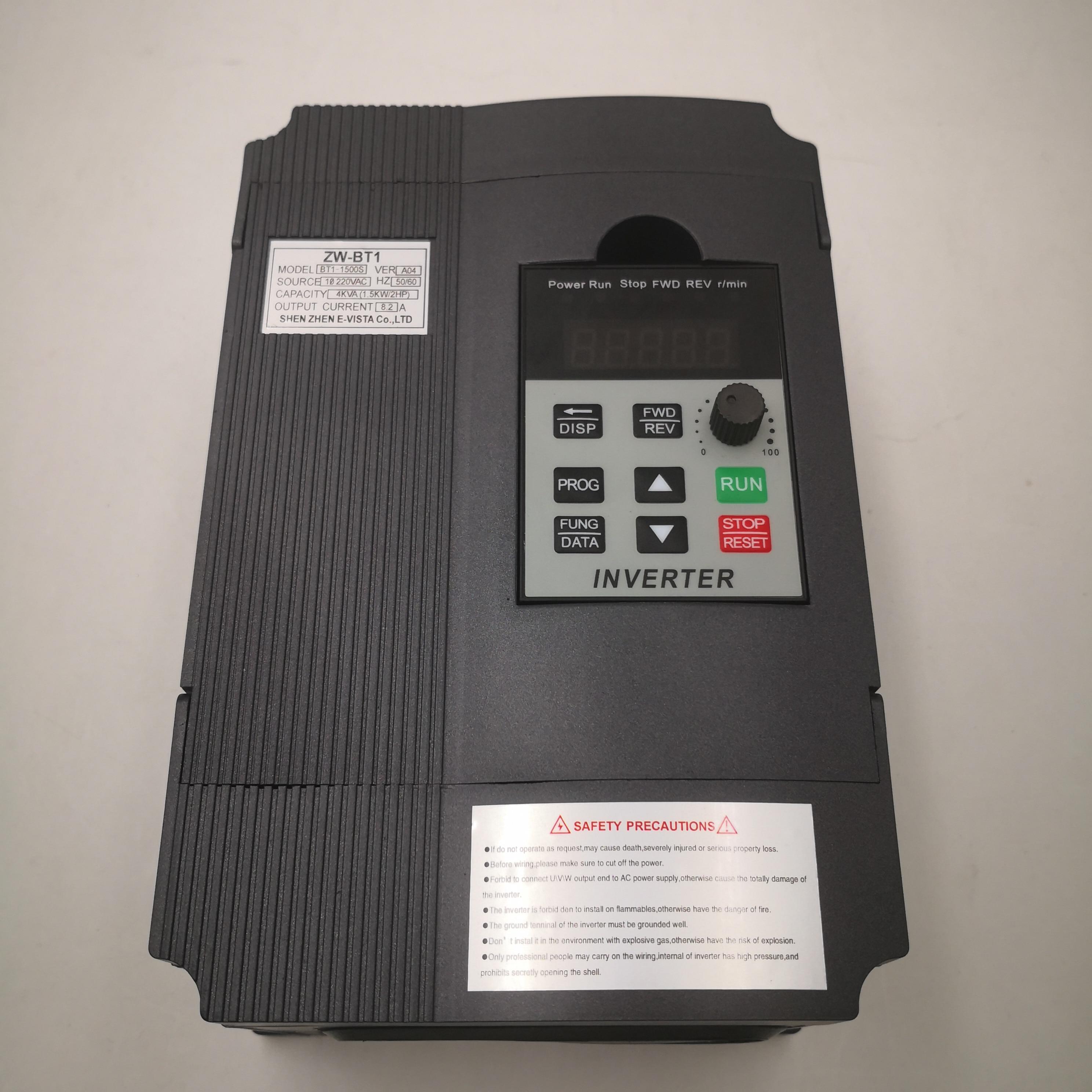 VFD onduleur VFD 1.5KW/2.2KW convertisseur de fréquence ZW-BT1 3 P 220 V convertisseur de fréquence de sortie VFD variateur de fréquence