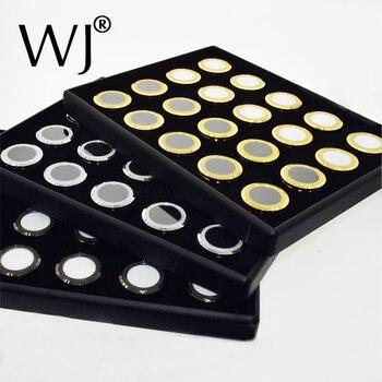 Bandeja de clasificación de Color negro con 20 cajas de Metal, almacenamiento de gemas y perlas, colección de clasificación