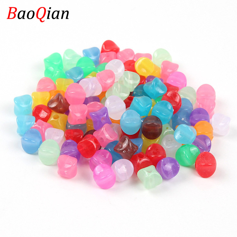50PCS Square Candy Color Plastic Beads DIY Summer Color Beads Making Necklace Bracelet Jewelry Accessories(China)