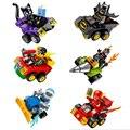 6 Unids DC comics super heroes bloque de construcción de coches de Parachoques catwomen Batman Bane Robin Flash Figuras 76061-76063