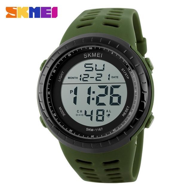 Skmei 1167 hombres digitales a prueba de agua reloj para hombre automático datejust reloj deportivo de moda reloj cronógrafo militar de calidad superior