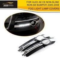 LED Fog Light Lamp Covers Fit For Audi A6 C6 Non Sline Non S6 Bumper 2005