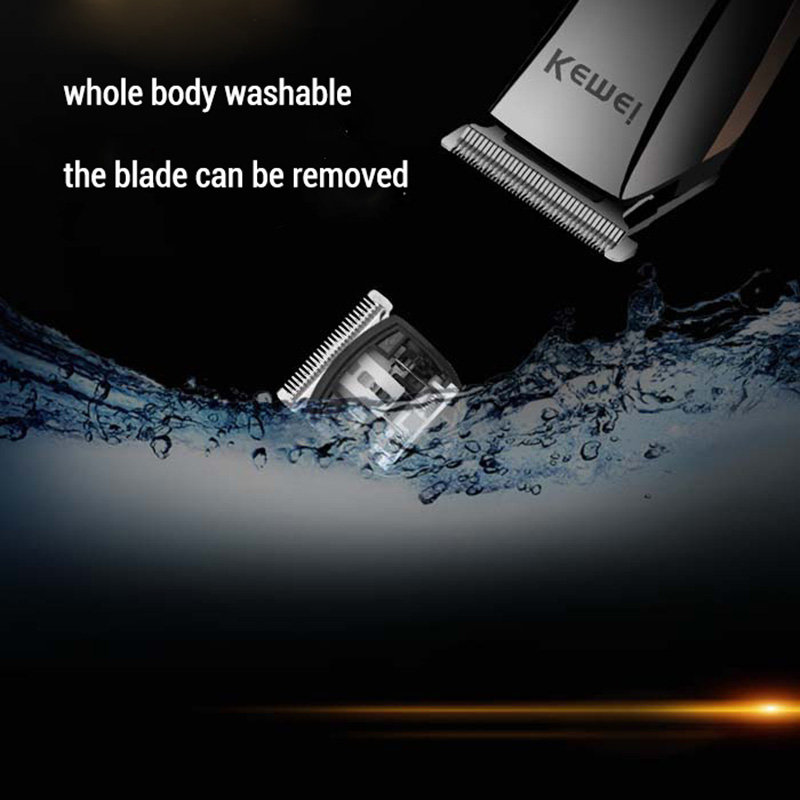 Kemei Washable Professional Hair Clipper Rechargeable Electric Cordless Hair Trimmer for Men Beard Hair Cutting Machine Haircut in Hair Trimmers from Home Appliances