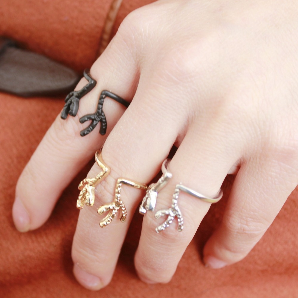 New Fashion Jewelry Wholesale Adjustable Lovely Deer Antler Open Rings For  Women R0030(china (
