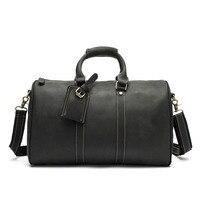 Роскошная брендовая мужская деловая кожаная сумка тоут для путешествий, сумка из коровьей кожи, винтажная сумка для ноутбука, дорожные сумк