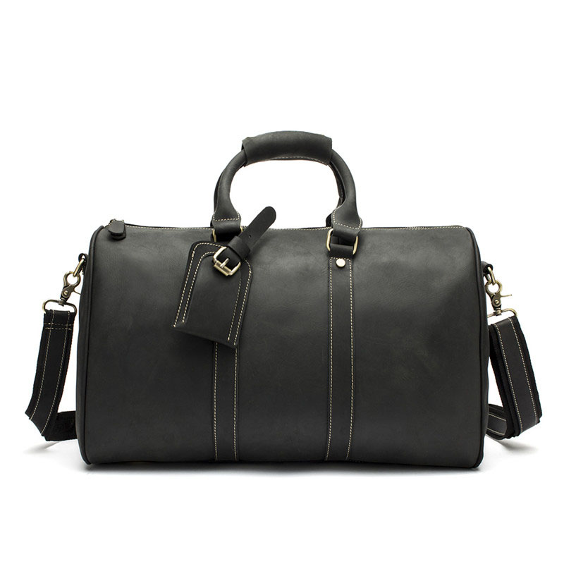 Luxury Brand Men Crazy Horse Business Leather Travel Totes Bag Cowhide Leather Male Duffel Vintage Laptop Luggage Travel Bags free shipping crazy horse leather men s backpacks travel bag totes huge 7072r 1
