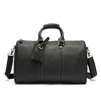 Luxury Brand Men Crazy Horse Business Leather Travel Totes Bag Cowhide Leather Male Duffel Vintage Laptop Luggage Travel Bags