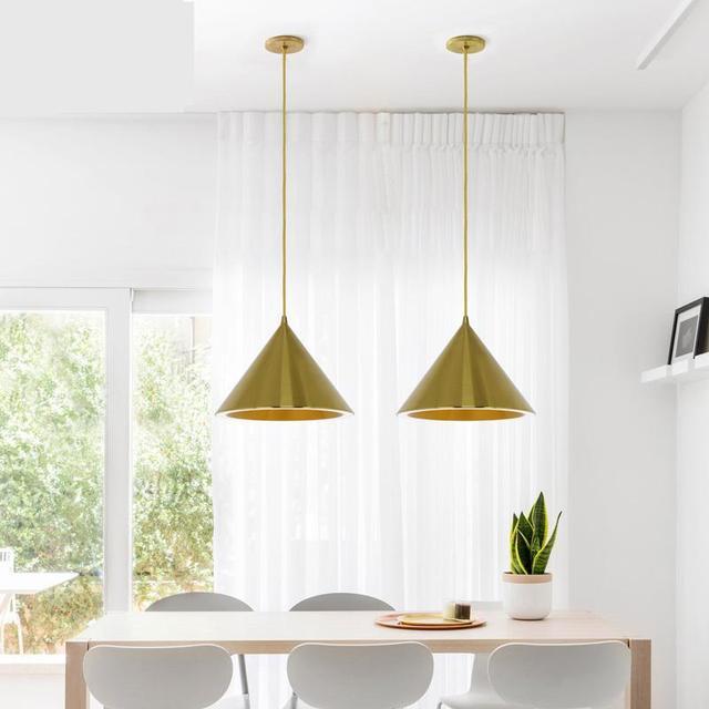 Home Led strip cone Pendant lamp picture Lighting Suspension Luminaire Gold New Halo Single Bar Cafe Restaurant pendant lights