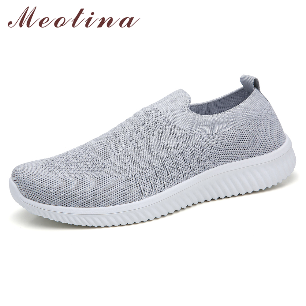 Meotina Casual Flats Women Shoes Fashion Flat Platform Shoes Round Toe Shoes Female Spring Footwear Sneakers Pink Gray Size 41