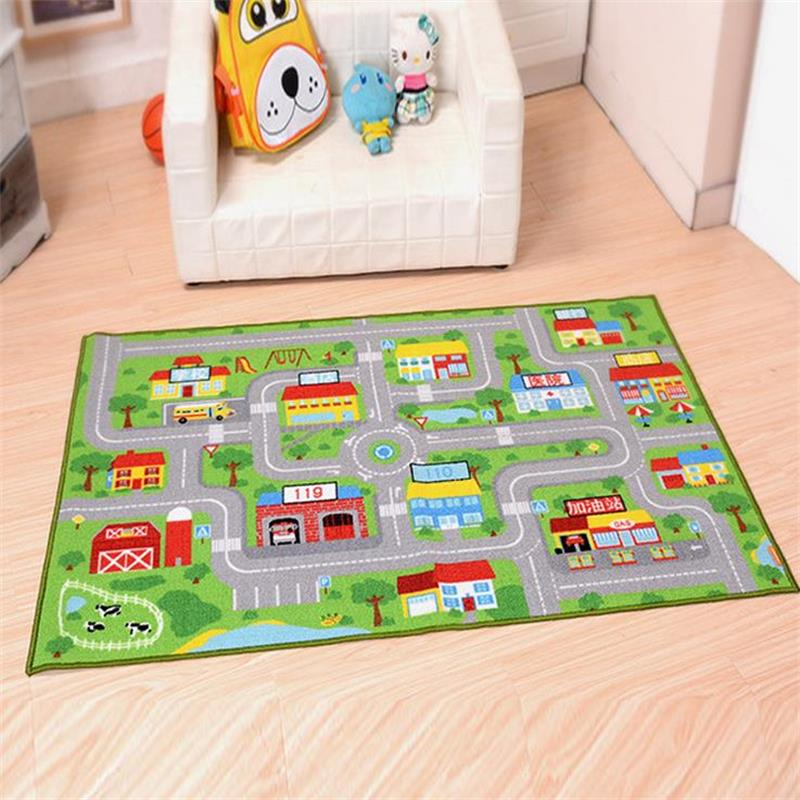 100X150CM Nylon Cartoon Rugs And Carpets For Home Living Room Traffic Children Bedroom Area Rug Kids Play Game Mat Study Carpet