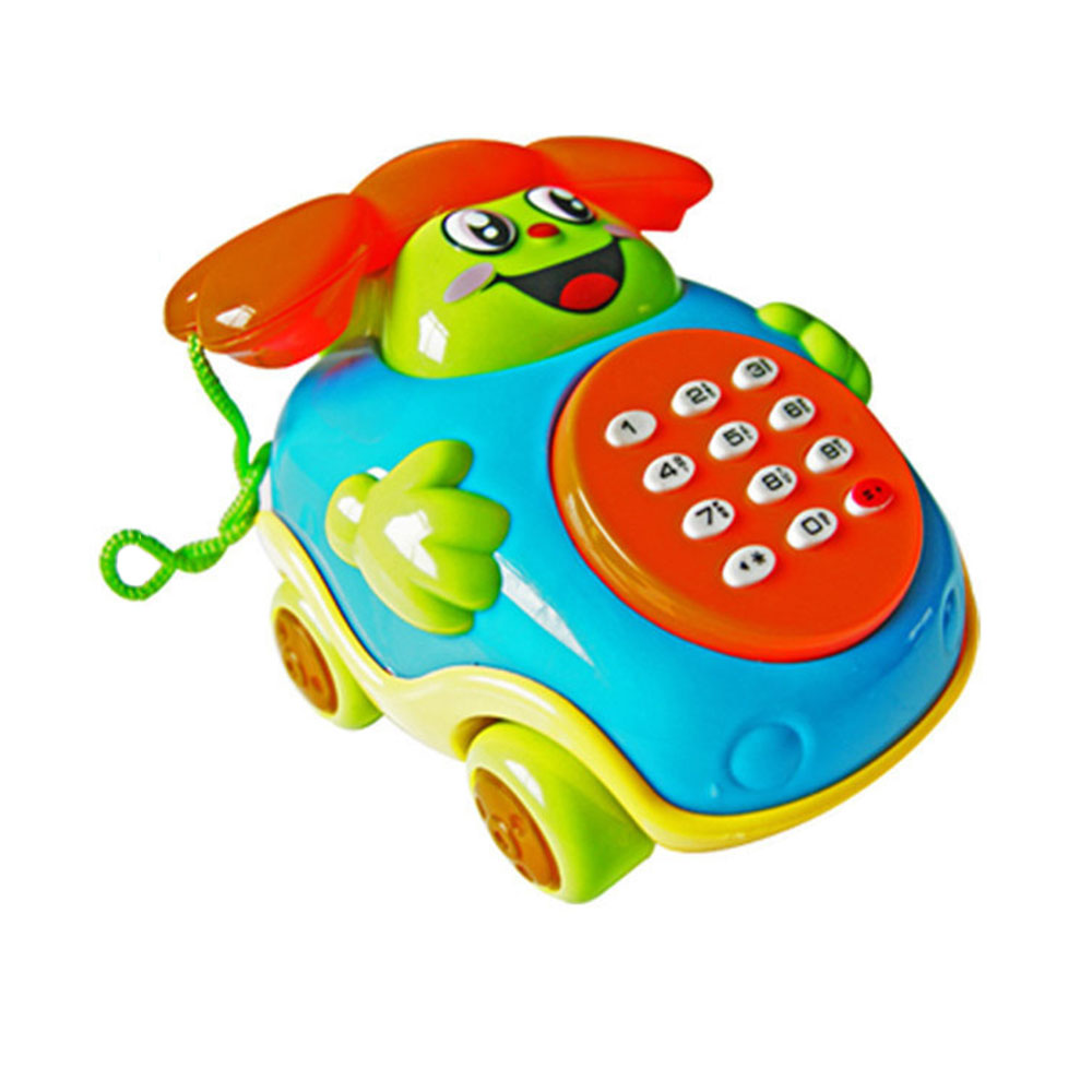 Cartoon Phone Bus Phone Smile Phone Novelty Realistic Colours ABS Flashing Acknowledge P ...
