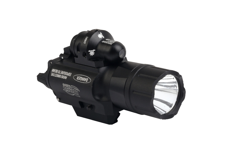 500 Lumens Tactical LED-zaklamp met groene laserstraal voor Picatinny - Jacht - Foto 5
